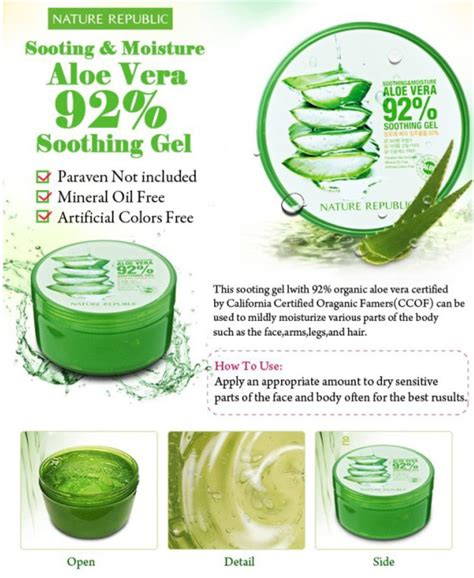 Nature Republic Aloe Vera 92 Soothing Gel Watson nature republic aloe vera 92 soothing gel review and how