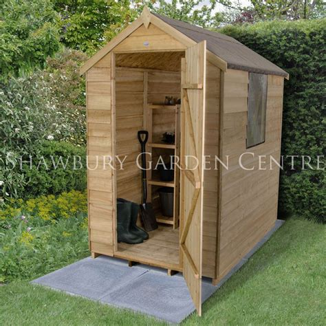 4 X 6 Garden Shed by Forest Garden Pressure Treated Overlap 4 X 6 Apex Shed