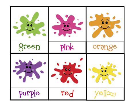 printable toddler learning flash cards learning colors printable preschool printables