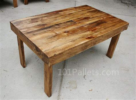 Pallet Wood Dining Table Easy To Make Pallet Wood Dining Table Pallet Furniture