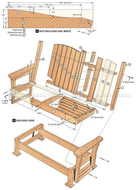 glider bench plans woodarchivist