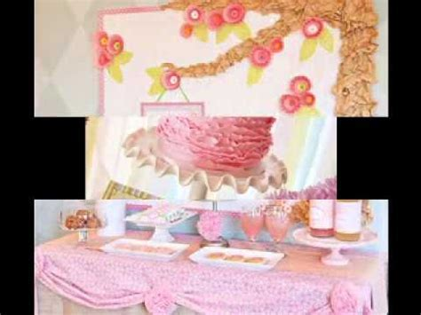 DIY cheap baby shower decorations ideas for girls   YouTube