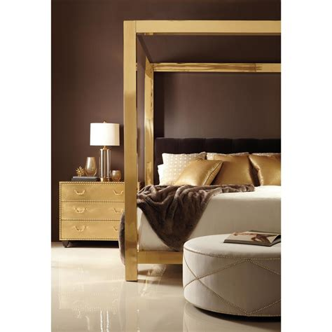 brass canopy bed astoria hollywood regency brass upholstered king canopy bed kathy kuo home