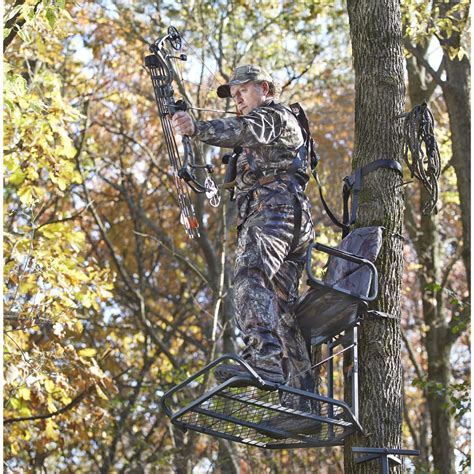 tree stands guide gear deluxe hang on tree stand 177427