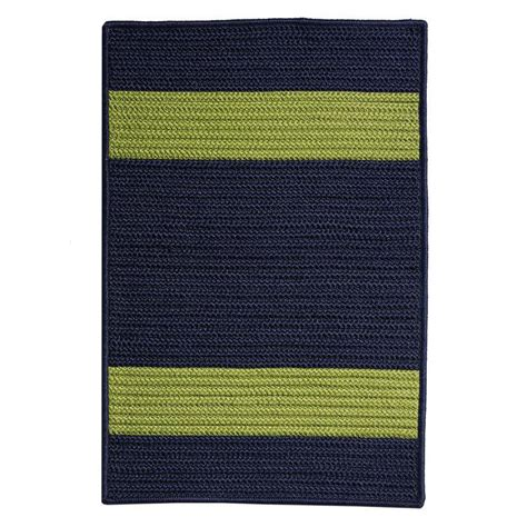 navy and green rug home decorators collection cafe 1 ft 10 in x 2 ft 10 in navy green indoor outdoor