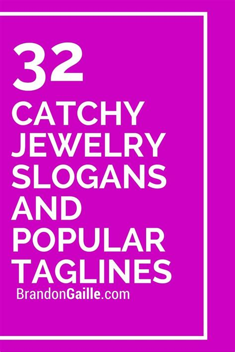 33 catchy jewelry slogans and popular taglines popular