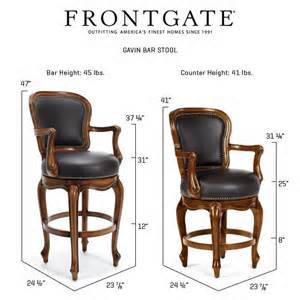 Frontgate Bar Stools by Frontgate Gavin Leather Barstool Bar Height Table Kitchen