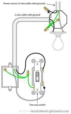 wiring lighting fixtures way switch diagram power into