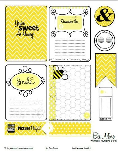 Project Journaling Card Template by Beekeeping Journal Template