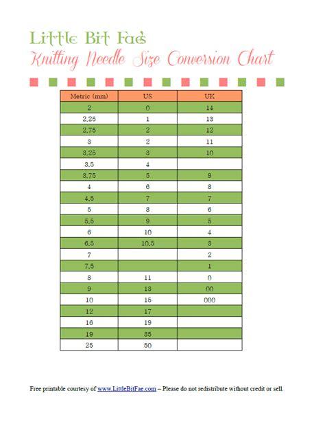 knitting needle size chart knitting needle sizes creatys for