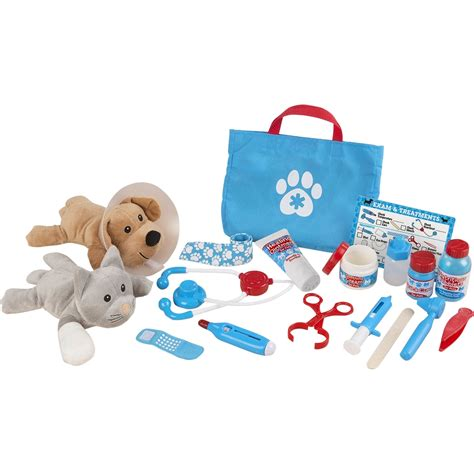 melissa doug examine  treat pet vet play set