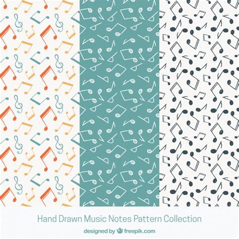 music notes pattern free black and white music notes pattern background vector