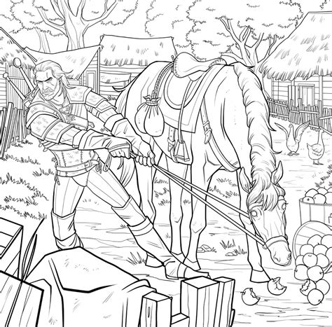 the witcher coloring book leave your on the world of the witcher