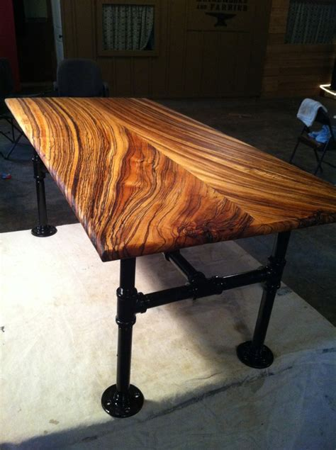 zebra wood table table made from zebra wood project