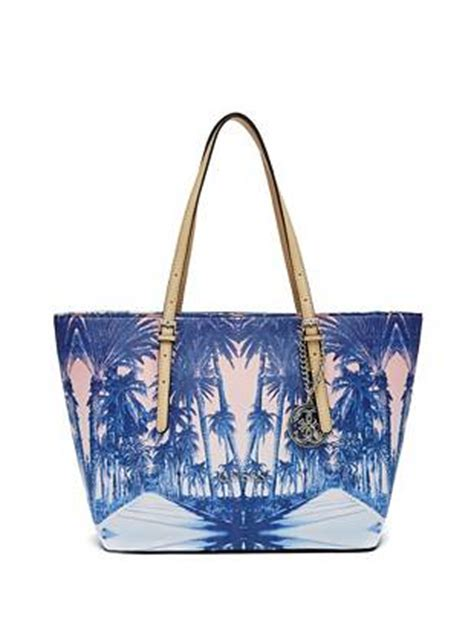 guess delaney mini palm delaney palm tree small classic tote guess