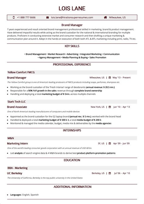 A Resume Is The Most Common And Straightforward by Best Resume Layout 2018 Guide With 50 Exles And Sles