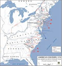 and the revolution map american revolution battles map