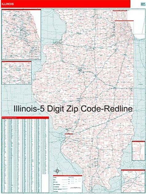 printable zip code map of illinois pin illinois zip code maps free on pinterest