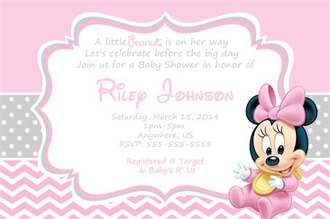 Home Design Make Your Own by Minnie Mouse Baby Shower Invitations Templates