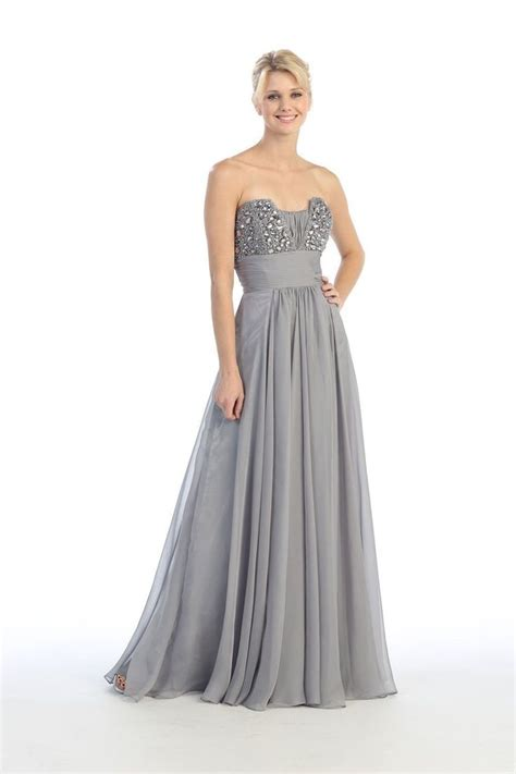 Dress Silver silver wedding dresses 2013 strapless silver bridesmaid