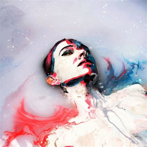 people painting alexa meade submerges her subject in a pool of milk my