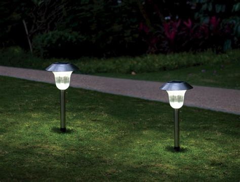 Menards Landscape Lighting Murray Stainless Steel Solar Path Light 2 Pack At Menards 174