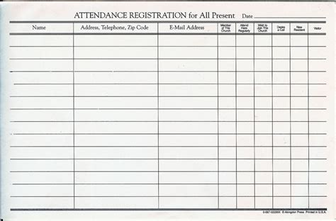 Search Results For Free Church Attendance Register Calendar 2015 Church Attendance Record Template