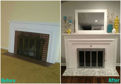 Before And After Fireplaces by How To Re Tile A Fireplace Surround Home Improvement