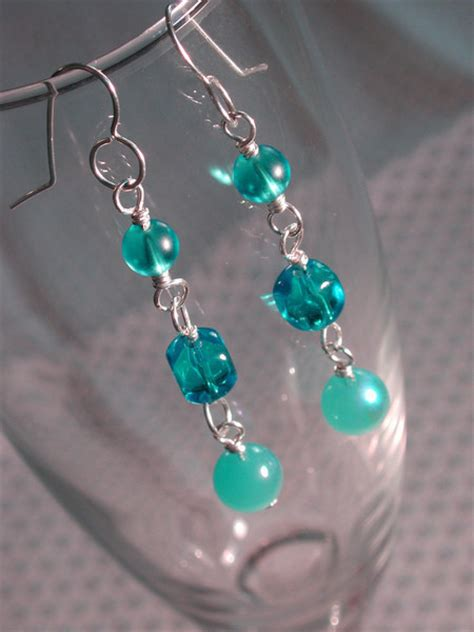 Bead Your Own Sassy Earrings Or Someone Do It For You Either Way Its Your Choice At Designer Fashiontribes Fashion by Basic Wire Wrap Earrings 183 How To Make A Pair Of Beaded