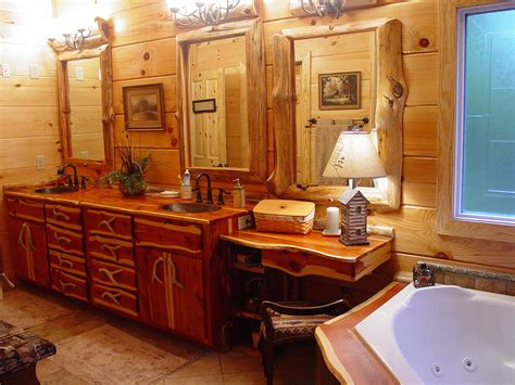 log cabin bathroom vanities rustic cabin decorating ideas extraordinary home design