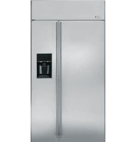 ge monogram refrigerator ge monogram 174 42 quot built in side by side refrigerator with