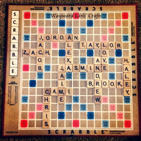 picture of a scrabble board wayward crafts scrabble board present