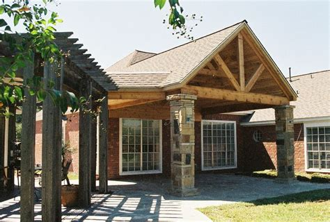 Rustic Patio Covers by Custom Pergola And Rustic Patio Cover In Houston With