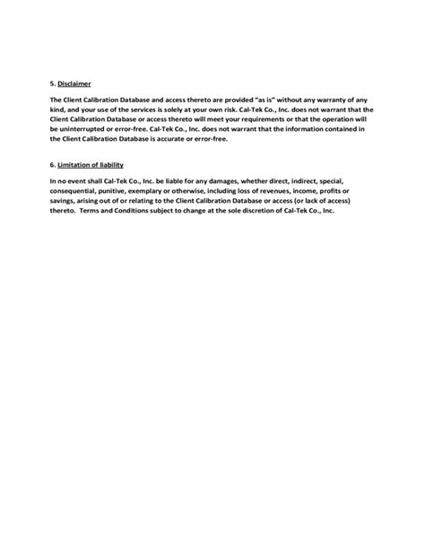 software terms and conditions template free download