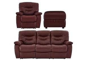 relax station cozy leather 3 seater sofa armchair with