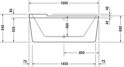 salle de bain baignoire ilot 1817 starck baignoires receveurs baignoire 700409 duravit