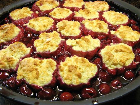 the well fed newlyweds cherry cobbler