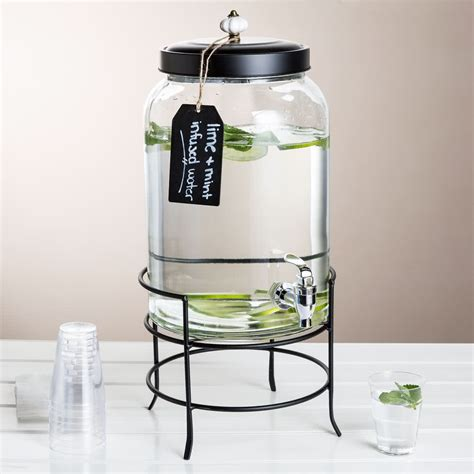 3 gallon beverage dispenser 3 gallon style setter franklin glass beverage dispenser with metal stand