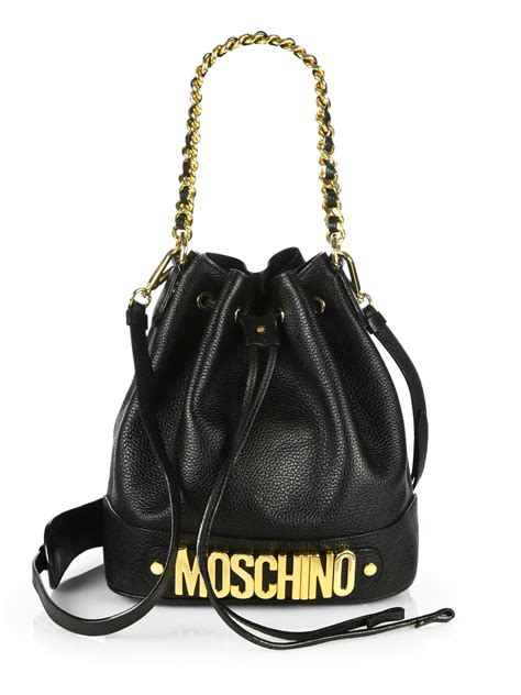 Moschino Bag lyst moschino mini leather bag in black