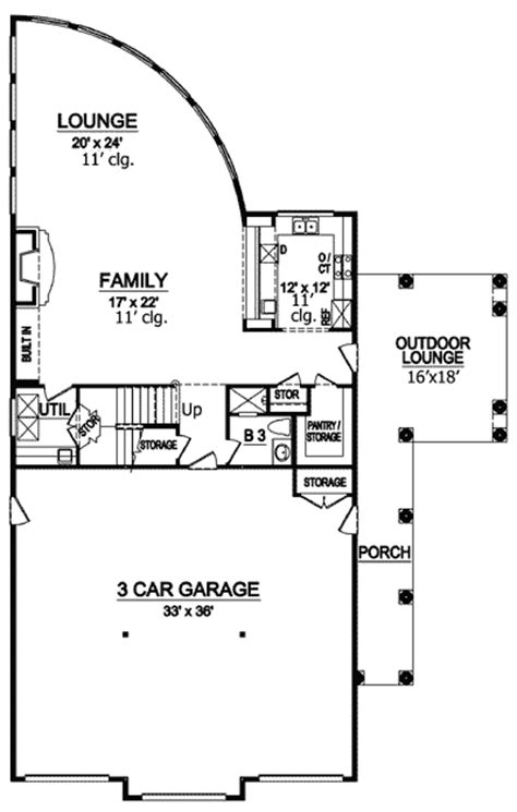 House Plans With Inlaw Quarters by Spectacular Guest Or In Law Quarters 36289tx
