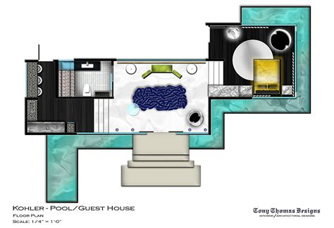 house plans with pool kohler guest pool house tony thomas ii archinect