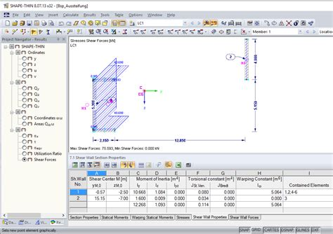 cross sectional properties stiffening of structures dlubal software