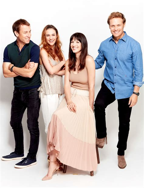 cast of new portraits of the cast of outlander from ew outlander