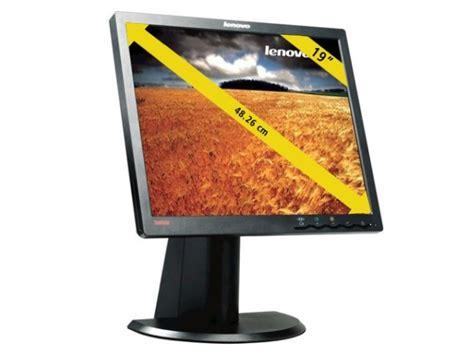 Monitor Lcd Lenovo 19 Inch 19 inch lenovo thinkvision l1900p 19 quot lcd tft monitor