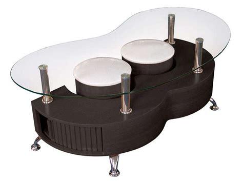 Table basse avec plateau en verre 2 poufs orfee coloris weng 233 vente de table basse conforama