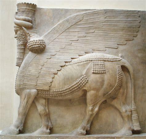 file human headed winged bull profile jpg wikimedia commons