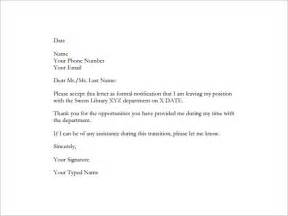Resignation letter template 28 free word excel pdf documents