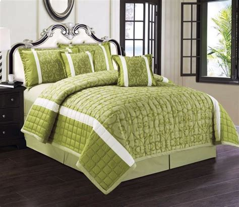 green king size comforter compressed comforter set 6 pieces by moon green king