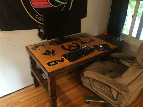 diy overwatch themed desk and gaming rig dave eddy
