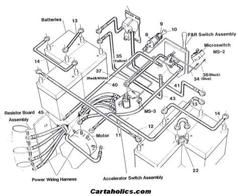 1987 ez go golf cart wiring diagram fuse box and wiring